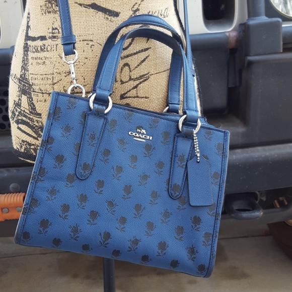 Coach Handbags - COACH Mini Crosby Crossgrain Leather Carry all Han f0064ed4cf6f2